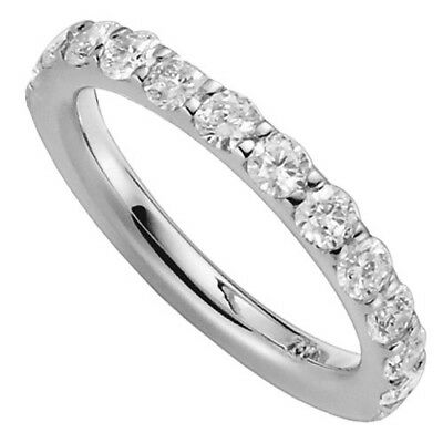 Women's ring Halbmemory - 12 Diamonds Brilliants 750 Gold White