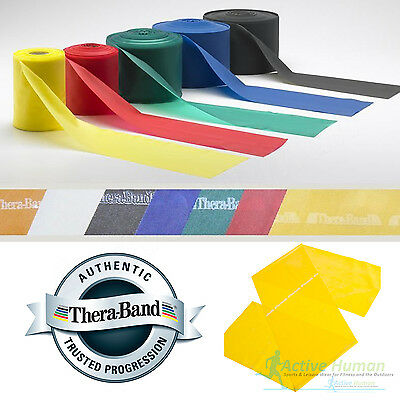 Theraband Widerstandsbänder Training Fitness Physio Thera Band Streifen Katapult