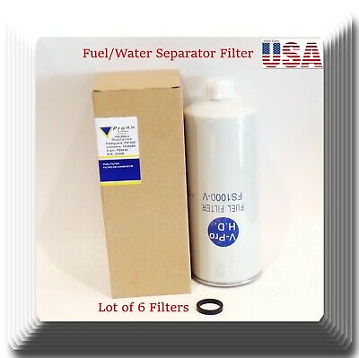 Lot 6 Fuel/Water Separator Filters FS1000 Fits:Cummins Caterpillar Diesel Engine