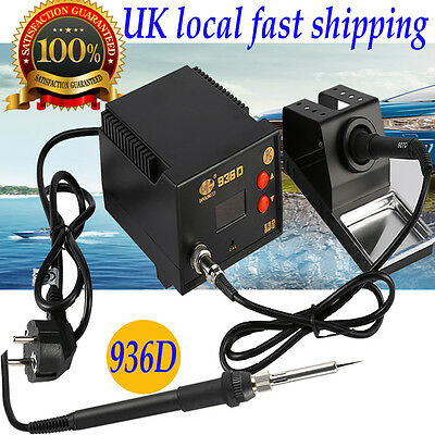 Heavy Duty Soldering Iron Station 60W Lead Free Solder ESD LED Display 936D