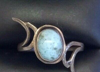 Faux turquoise and silver color ring