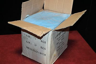 Case Of 25 New Latoplast Blue Medical Cover Gowns New Nib Free Shipping!!!!!!!!!