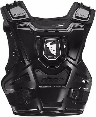 Thor Sentinel Chest Protector Ce Approved Atv Motocross Roost Guard Adult Black