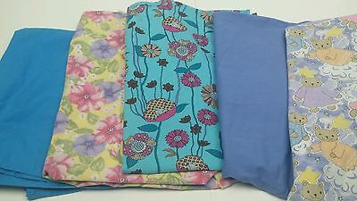 Lot of 5 large scrub tops size large variety of colors and patterns!