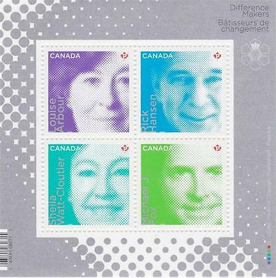 Canada 2012 Souvenir sheet #2549 Difference Makers - MNH