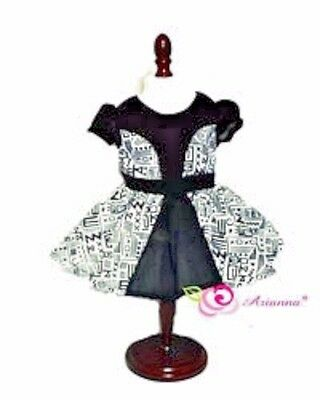 "Doll Clothes  18"" Dress Black White Tribal Arianna Fits American Girl Doll"
