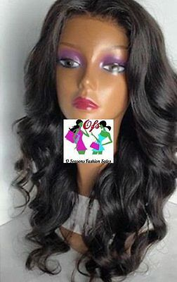 7A front lace Wig Unprocessed Virgin Hair Brazilian big  Wave Wig With Baby hair