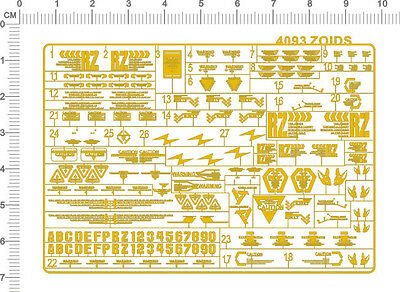 chrome(metal) decals for zoids (Golden) 4093