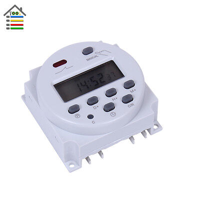 Digital LCD Power Programmable Timer Time switch Relay 16A DC 24V