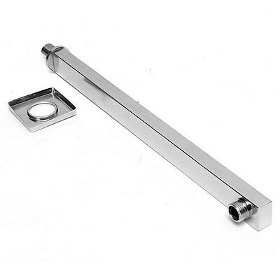 40cm Chrome Square In Wall Mounted Rain Shower Arm For Shower Head