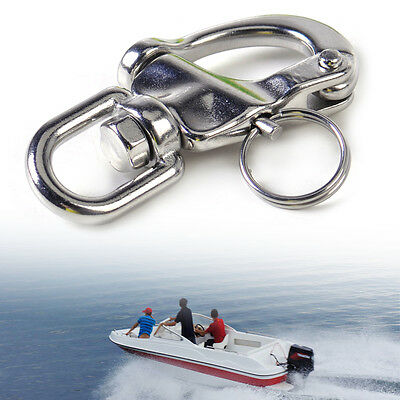 New Stainless Steel Snap Shackle Swivel Bail Marine Boat Yacht Sailing Hardware