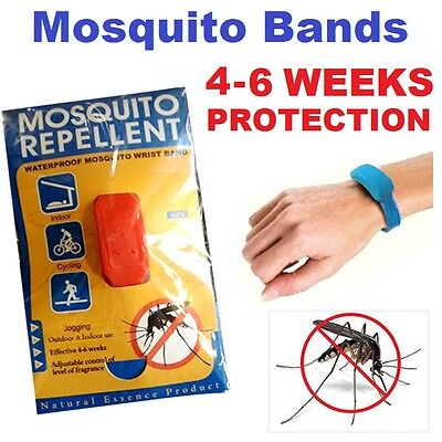100%  Oil Anti Mosquito Repellent Band Wrist Ankle Waterproof Adjustable Defense