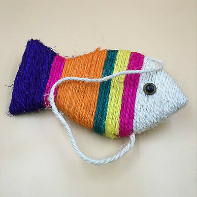 Fish Shape Pet Cat Kitten Scratch Scratching Board Mat Pad Pet Toy Mat Claw Toy