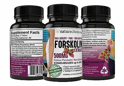 FORSKOLIN EXTRACT 500MG | INCREDIBLE WEIGHT LOSS Forskohlii 20% Standardized