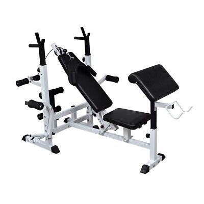 # Multi Station Home Gym Weight Bench Press Incline Fitness Ab Set Fitness Curls