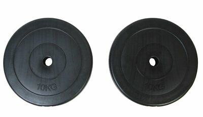 # New 2x10KG Weight Plates Barbell Dumbbell Plate Gym Weights Set Fitness Exerci