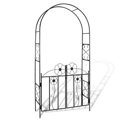 # Garden Metal Rose Arch 240cm Outdoor Wedding Patio Plants Arbor Gardman Arbour