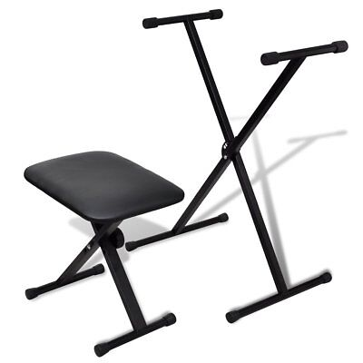 # Adjustable Keyboard Stand Piano Stool Set Seat Folding Bench Chair Poratble Se