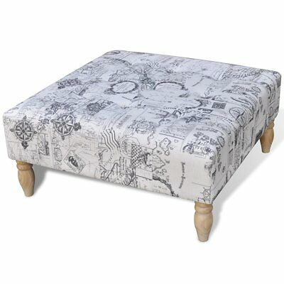 # Foot Stool Square Footrest Ottoman Seat Home Footstool Wooden Sofa Chair Retro