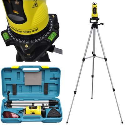 # New Self Leveling Rotary Rotating Laser Level Red Beam Cross Line Tripod Stand