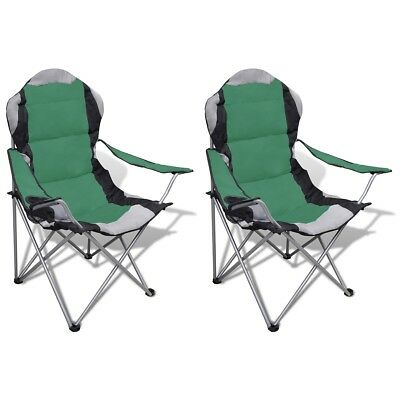 # New 2pc Portable Fishing Chair Outdoor Camping Seat Folding Stool Hiking Green