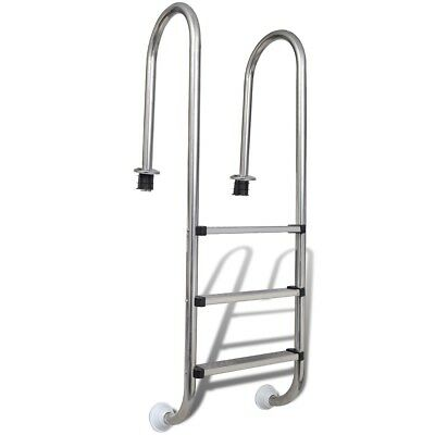 # New Stainless Steel Swimming Pool Ladder In Above Ground 3 Step Non-skid 158cm