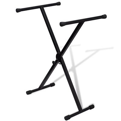 # New Adjustable Music Single Braced Keyboard Stand X Frame Stool Steel Foldable