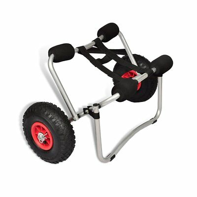 # New Kayak Trolley Canoe Aluminium Collapsible Wheel Cart Boat Carrier Foldable
