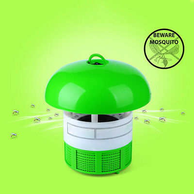 Efficient Photocatalyst LED Electric Mosquito Repellents Catcher Lamp Trap Green