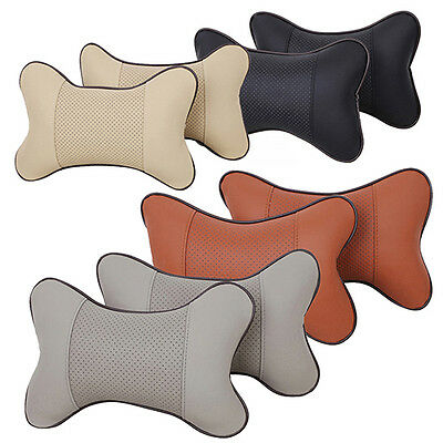 2pcs Breathe Car Auto Seat Head Neck Rest Cushion Headrest Pillows Pad 4 Colors