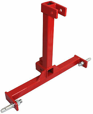 """3 Point Trailer Hitch Category 1 Tractor Tow Hitch Drawbar Adapter 2"""" Receiver"""