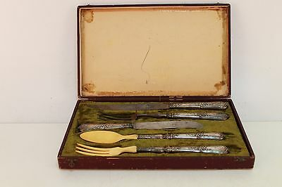 Antique set from spoon, knife and forks