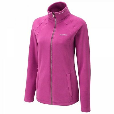 Craghoppers Womens Madigan Interactive Full Zip Fleece Jacket in Lipstick Pink