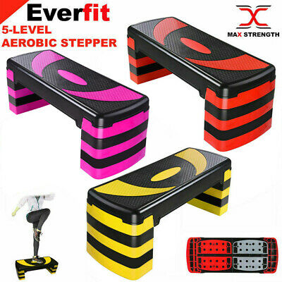 Adjustable Exercise Aerobic Step Yoga Fitness Gym Workout 3 Level Stepper Board