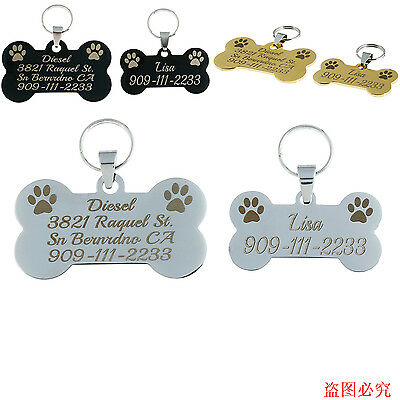 Stainless Steel Free Custom Engraved Dog Pet Tags Personalized Dog Collar Id Tag