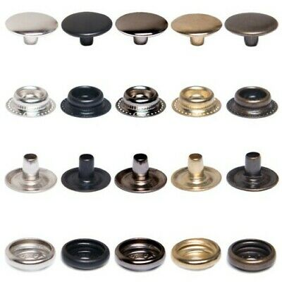 Push buttons TYPE 61/15mm,Steel,Ring spring,for Fabric,Clothing,Textile,Leather