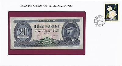 Banknotes of All Nations, Hungary 20 Forint, 1975, P169f, Uncirculated