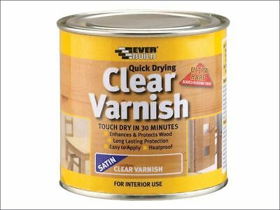 Everbuild - Quick Dry Wood Varnish Satin Clear 250ml