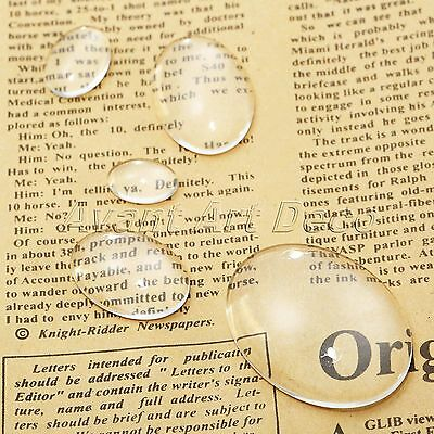 Clear Glass Cabochons Dome Flat Back Transparent Oval Crystal Jewellery Making