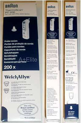 Welch Allyn BRAUN THERMOSCAN PRO 6000/4000 Ear Thermometer Probe Cover PC 200/BX