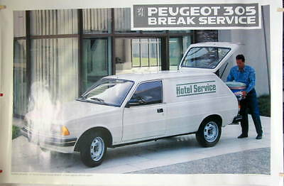 1987 Peugeot 305 Break Service Affiche  780 X 1117 Mm En Bon Etat
