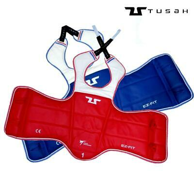 Tusah WTF Approved Reversible Competition Body Armour Taekwondo TKD