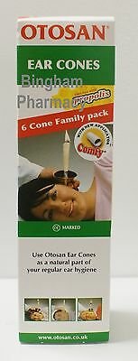 Otosan Ear Wax Cleaning Family Pack 6 Cones  Safe Natural ** UK STOCK **