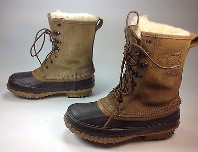 24044b57732 LACROSSE ICEMAN BROWN Leather Winter Rubber Work Boots Mens Size 11 ...