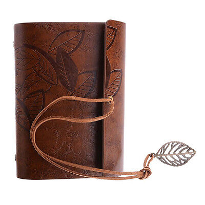 Light Brown Retro Vintage Leather Pocket Notebook Kraft Diary Travel Journal #AU