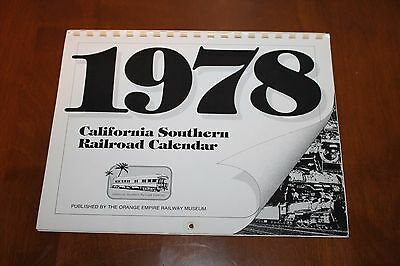 Vintage 1978 California Southern Railroad Calendar - Mint