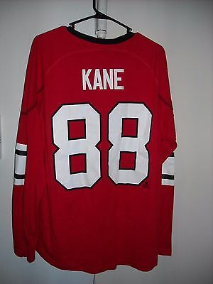 14c14698054 New Nhl Reebok Chicago Blackhawks Patrick Kane 88 Jersey Style L/s T-Shirt