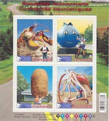 CANADA 2011 Souvenir Sheet #2484 Roadside Attractions – 3 MNH