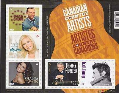 Canada 2014 Souvenir Sheet #2765 Canadian Country Artists - MNH