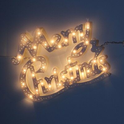 New Xmas Light Up Double Sided Frame Merry Christmas Sculpture Window Decoration